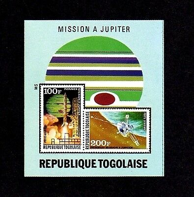 Togo - 1974 - Space - Jupiter Probe - Roulette - Mint - Mnh S/sheet!