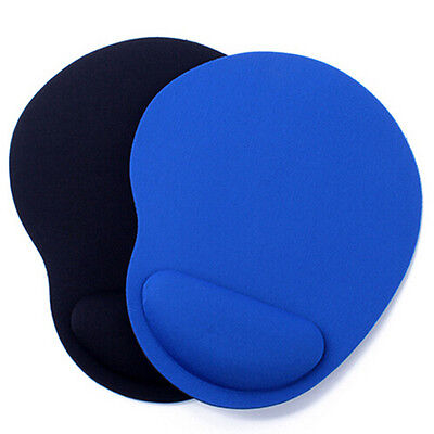 Anti Slip Rubber Mouse Mat Pad With Rest Wrist Comfort Support Laptop PC