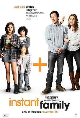 """INSTANT FAMILY 2018 Original DS 2 Sided 27x40"""" Movie Poster Mark Wahlberg Byrne"""