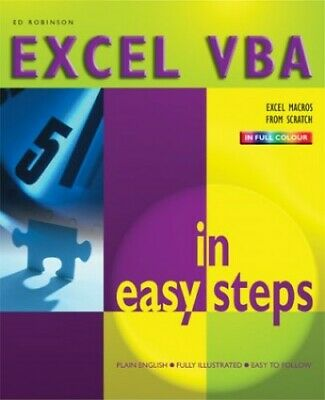 Learn To Program In Excel Vba In Easy Steps, C... by Robinson, Patrick Paperback