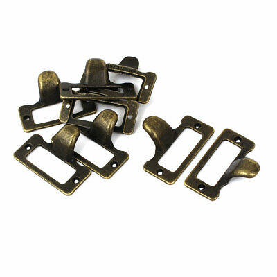 Office Chest Box File Drawer Metal Label Pull Frame Handle 48x22mm 8pcs