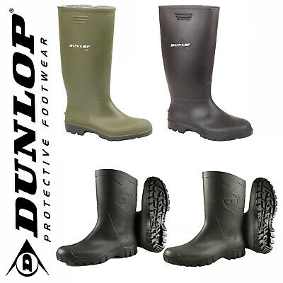 Mens Ladies Dunlop Rubber Original Waterproof Wellies Festival Wellington Boots
