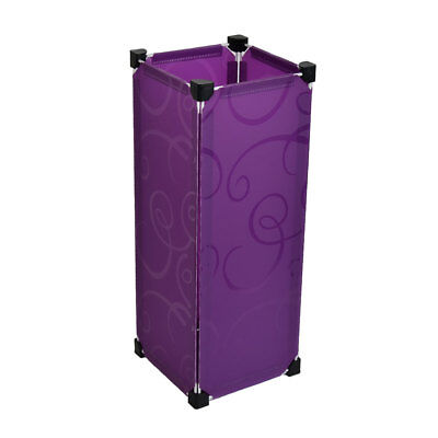 Household Removable Rectangular DIY Umbrella Stand Holder Container Purple
