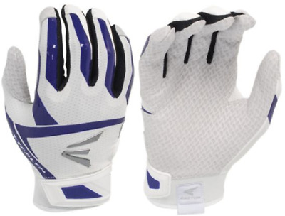 1 Pair Easton Stealth Retro Small White / Purple Fastpitch Womens Batting Gloves