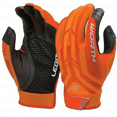 1 Pair Worth Legit Medium Orange Fastpitch Experts Women's Batting Gloves New