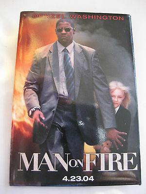 Denzel Washington Man On Fire Movie Promo Button