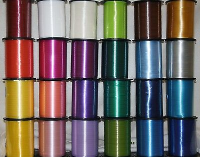 500m Full Reel of Curling Ribbon - CHOOSE COLOUR - Balloons Gift Wrapping