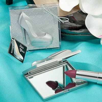 Set of 6 Shoe Design Mirror Compacts Wedding & Party Bag Filler Favours Gifts