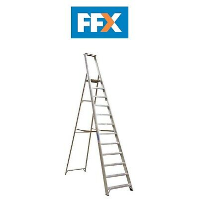 Sealey AXL12 Aluminium Step Ladder 12-Tread Industrial BS2037/1