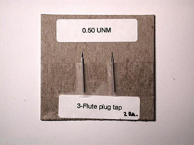 2 Nos Swiss Micro Watchmakers Machinists Taps 0.50 Unm