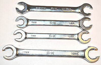 4 NOS SK USA PROFESSIONAL 9x11mm & 13x14mm 6-PT FLARE NUT WRENCH GROUP LIST $69