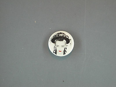 Rare Vintage Boy George Culture Club Button Pin  1980S