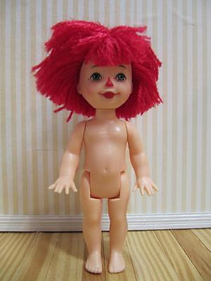 Mattel Kelly Nude ANDY TOMMY~NEW-Raggedy Ann Red Yarn Hair Clown Face Diorama