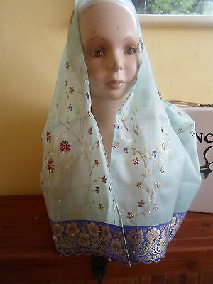 1 NEW Colourful Mixed Fibre Pretty Ladies Scarf Sequins+Beads~ Gift Idea #52