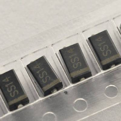 100PCS SS14 1N5819 IN5819 1A/40V SMA DO-214AC SMD Schottky Diodes NEW