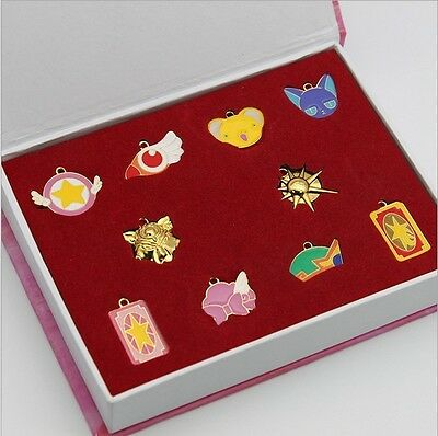 11pcs/set Card Captor Sakura Figure Cosplay Magic Pendant Chain Necklace NO Box