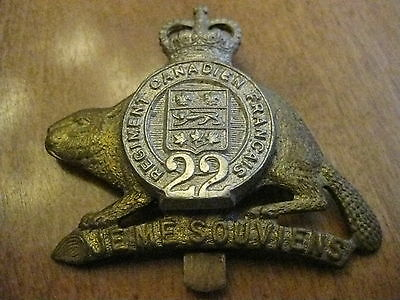 22 ième RÉGIMENT FRANCAIS  MILITARY INSIGNIA issued after 1958