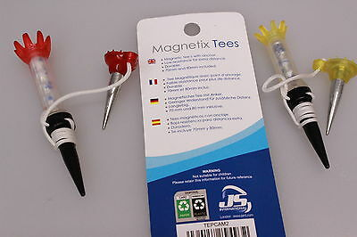 Longridge Magnetix Golf Tees with Ground Anchors 70mm + 80mm  Extra Distance New