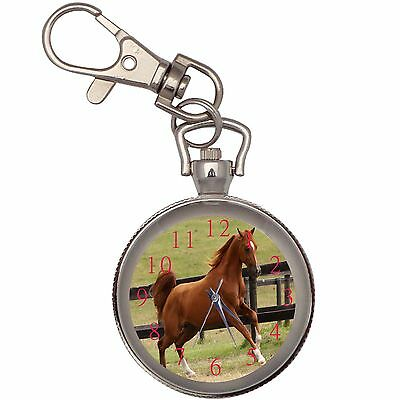 New Amazing Arabian Horse Key Chain Keychain Pocket Watch