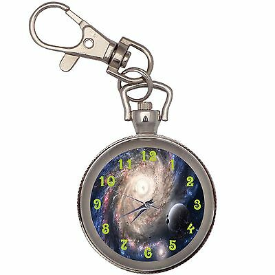 New Space And Planets Key Chain Keychain Pocket Watch