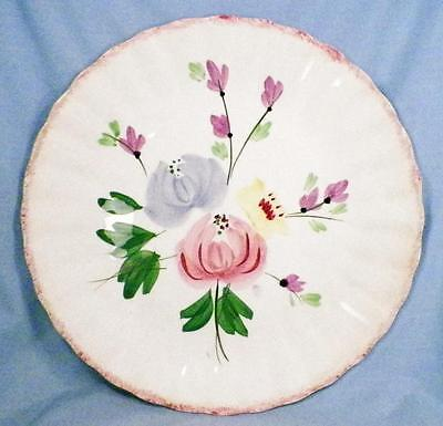 Blue Ridge Southern Potteries Rosette Dinner Plate Vintage Flowers Pink Sponge