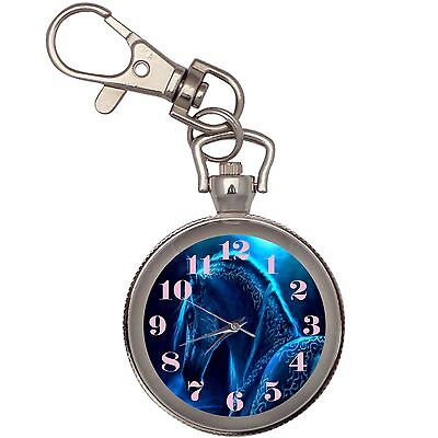 New Luminous Fantasy Horse Key Chain Keychain Pocket Watch
