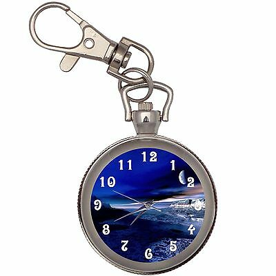New Moonlight Silver Key Chain Keychain Pocket Watch
