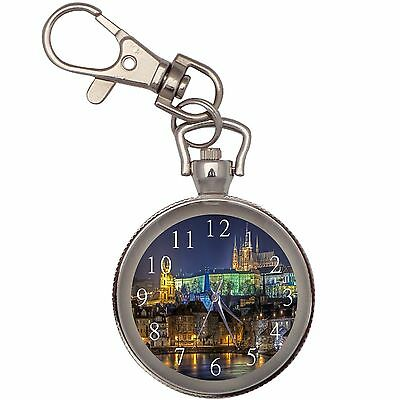 New Night Prague Key Chain Keychain Pocket Watch
