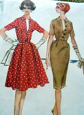 LOVELY VTG 1950s DRESS & DICKIE McCALLS Sewing Pattern 16/36