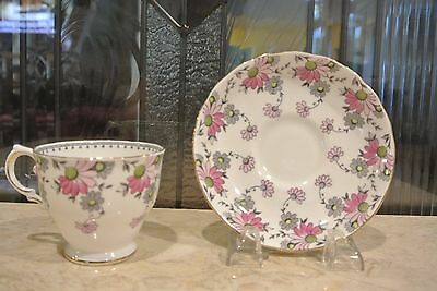 Tuscan Fine English Bone China Tea Cup white with Pink Flowers