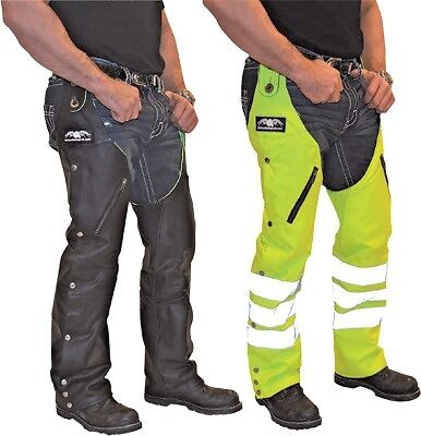 D.O.C. Leather/Nylon Reversible Chaps Missing Link Apparel Yellow/Black