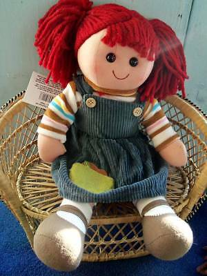 """14"""" Cloth Country Rag Dolls, Assorted Clothes & Hair Colors Boy Or Girl"""