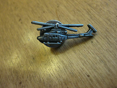 Bell Helicopter Pewter Pin Back