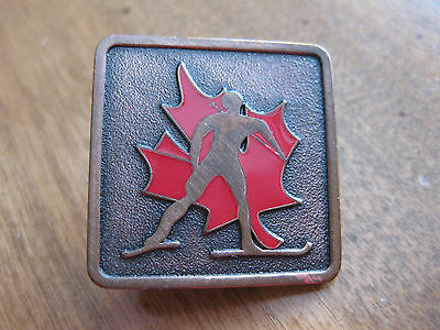 Canada  Ski Pin Back Bronze  Version