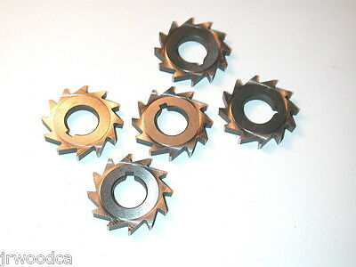 "5 NOS DECOVICH Canada HSS 15/16"" x 1/8"" 12 tooth MILLING CUTTER 4 Watchmakers"