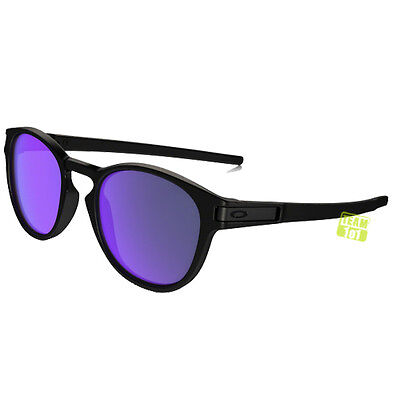 Oakley Occhiali Sole Latch nero opaco violetto Irid