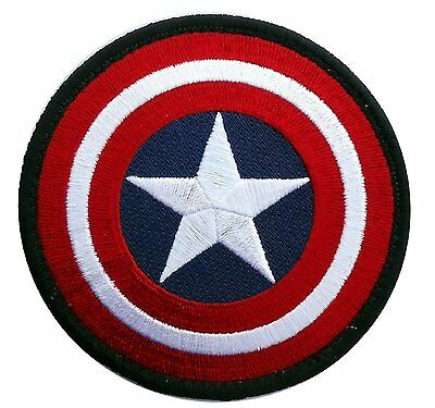 Captain America Marvel Comics Shield Logo Movie 3.5 Inch Iron On Patch