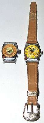 RARE Flicker Lenticular Hologram ROY ROGERS Cowboy Wrist Watch & Dale Evans OLD
