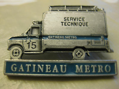 Gatineau Metro  Police Technical Squad Pin Back