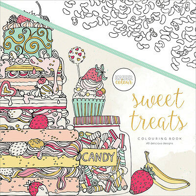 KaiserColour Perfect Bound Coloring Book-Sweet Treats