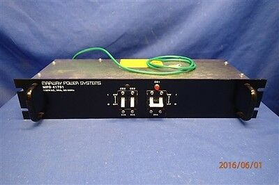 MARWAY PRODUCTS MPD 41701 120VAC 30A 50-60Hz POWER DISTRIBUTION UNIT BLACK
