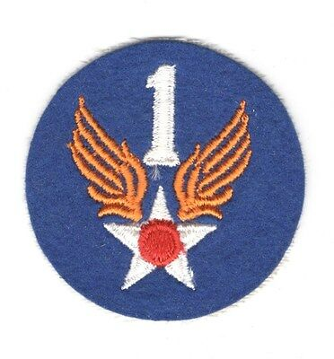 Army Air Force Patch:  1st Air Force - felt