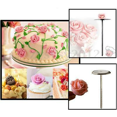 Cake Flower Nail Tool Handle Cupcake Decorating Icing Cream Sugarcraft Needle UK