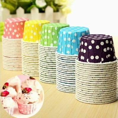 FD4050 Cake Baking Paper Cup Cupcake Muffin Cases Candy Nut Snack Home Party☆