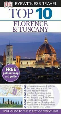 DK Eyewitness Top 10 Travel Guide: Florence & Tuscany by DK Paperback Book The