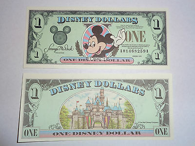 1999 $1 Disney Dollar featuring Mickey  - AA Series  Mint