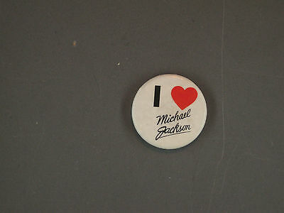 Rare Vintage Michael Jackson  Button Pin  1982