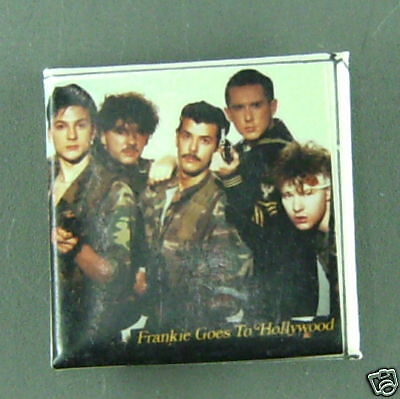 RARE VINTAGE Frankie goes to Hollywood  BUTTON