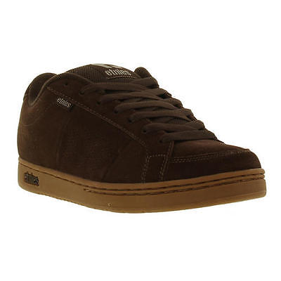 Etnies Kingpin Mens Trainers Brown Suede Leather Skate Shoes Size UK 7-14