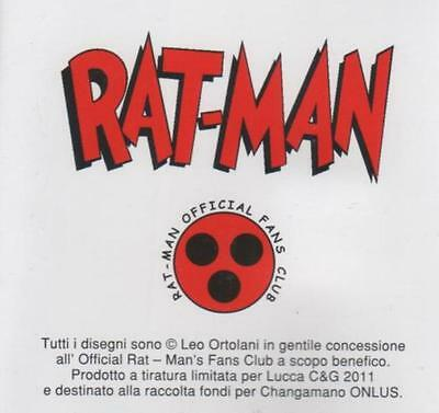 set 12 cards RAT - MAN  official fans club x CHANGAMANO onlus Lucca 2011 ratman